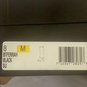 Nine West black suede calf boots